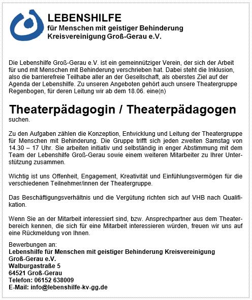 Stellenanzeige_Theaterpädagoge_2016